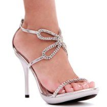 4 Inch Rhinestone Butterfly Shoes Strappy High Heel Sandals Womens Sexy Shoes