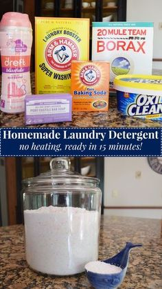homemade laundry detergent - easy, ready in 15 minutes. from Darling South