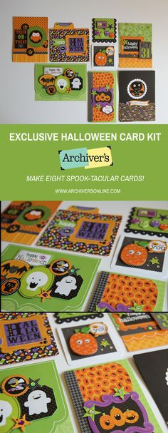 Make eight spook-tacular cards with this exclusive kit you'll only find at Archiver's while supplies last!