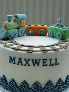 Baby train — Birthday Cake Photos