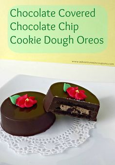 Oh my! These are simply to die for! Try this Chocolate Covered Chocolate Chip #Cookie Dough Oreos Recipe and I promise! You'll love them! These are AMAZING!