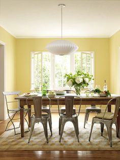 This has to be the most bright and cheerful dining room ever
