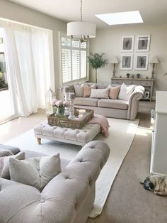 Home Tour Friday – Living Room – The Home That Made Me Shop now at www.wall… Home Tour Friday – Living Room – The Home [. Cottage Living Rooms, New Living Room, Small Living Rooms, Home And Living, Cosy Grey Living Room, Lights For Living Room, Apartment Living, Room Lights, Coastal Living
