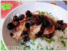 Red is the color of passion: Grilled Pork Tenderloin with Cherry Relish #Valentines