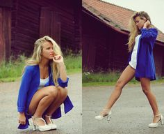 White+bluE (by Molly Rustas) http://lookbook.nu/look/2461177-White-bluE