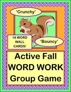 Use great DESCRIPTIVE LANGUAGE with 16 FALL SIGHT WORDS! Play a GROUP GAME about two Squirrel buddies who find Fall leaves, nuts, and sticks. LEAF, NUT, and STICK TEMPLATES provided. Sing a funny familiar-tune SONG! 16 FALL SIGHT WORD CARDS plus BLANK CARDS are included. Multi-Sensory WORD WORK for Pre-K, K, and 1st. (14 pages) From Joyful Noises Express TpT! $