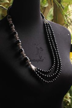 Black tribal oxidized necklace NND 3451 – Nnazaquat Online Shop