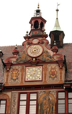 Astro Clock at Townhall of Tübingen, Germany