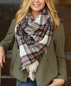 Another great find on #zulily! Brown & Green Plaid Scarf #zulilyfinds
