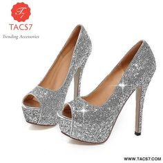 faefa966f1d Bling Fashion Woman Shoes Peep Toe Stilettos Silver   11 Cocktail Wear