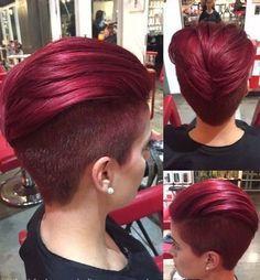Beautiful Colors For Your Short Hair Trend Fall New Hair Color Ideas Short Hair Undercut, Short Curly Hair, Short Bob Hairstyles, Short Hair Cuts, Curly Hair Styles, Cool Hairstyles, Greaser Hairstyles, Long Haircuts, Formal Hairstyles