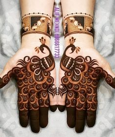 Check beautiful & easy mehndi designs 2020 ideas for mehandi ceremony. Save these latest bridal mehandi designs photos to try on your hands in this wedding season. Dulhan Mehndi Designs, Mehandi Designs, Mehendi, Peacock Mehndi Designs, Henna Art Designs, Mehndi Designs For Girls, Mehndi Designs For Beginners, Mehndi Designs 2018, Stylish Mehndi Designs