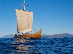 A replica Viking ship that sailed to North America.