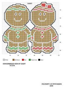 Bitten Gingerbread Boy-Christmas-Plastic Canvas Pattern-PDF Download