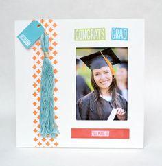 Make a colorful graduation frame using Mod Podge and printables