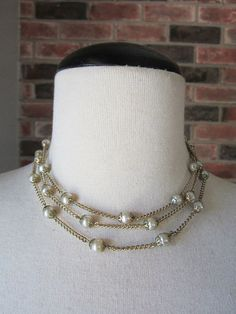 Vintage Pearl Chain Flapper Necklace by InsomniaVintage on Etsy, $35.00