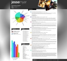 Curriculum Vitae 2010 by Jesse Myer | SEE MORE AT http://www.yvelledesigneye.com/2012/01/18/40-impressive-resume-cv-designs/
