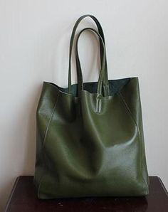 Handmade Vintage Leather Oversize Tote Bag Shoulder Bag Handbag For Women  Τσάντες Τύπου Purse 2144d485e01