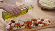 Salade de tomates à la mozarrella di buffala