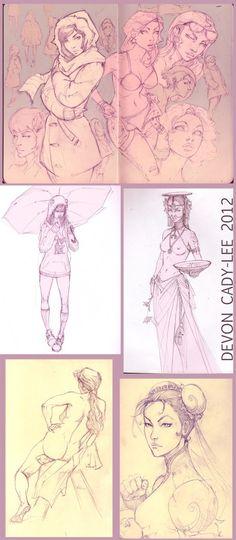 Analog Sketches by Devon Cady-Lee, via Behance