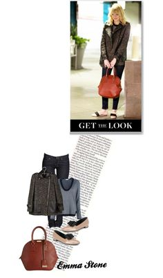 """Get the Look: Emma Stone"" by batsoulini on Polyvore"