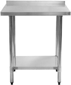 Stainless Steel Work Prep Table with Back Splash Kitchen Restaurant 24 x 30  #StainlessSteelWork