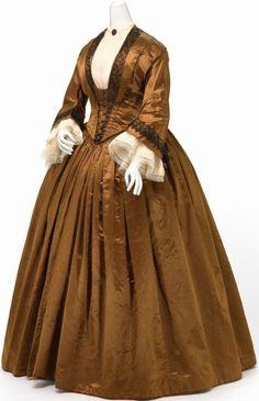 1845-1850 brown silk in National Gallery of Victoria, Australia
