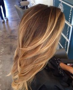 Golden Blonde Balayage for Straight Hair - Honey Blonde Hair Inspiration - The Trending Hairstyle Honey Blonde Hair Color, Golden Blonde Hair, Honey Hair, Hair Color And Cut, Hair Color Balayage, Brunette Hair, Honey Balayage, Ombre Highlights, Honey Colored Hair
