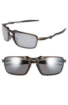white oakley sunglasses for men i6g3  Men's Oakley 'Badman' 60mm Polarized Sunglasses