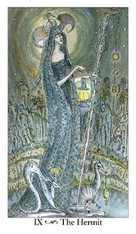 The Hermit Tarot Card - Paulina Tarot Deck