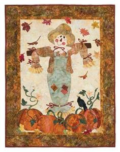 HARVEST SCARECROW BALI WALL QUILT KIT. Bought pattern at quilt show in duluth ga. Love it!!