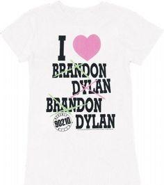 Beverly Hills 90210 Brandon Dylan Juniors Tee #tvstoreonlinewishlist