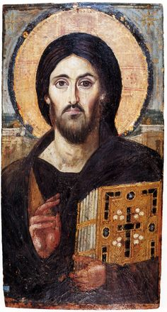 Christ Pantocrator, Byzantine Art, Byzantine Icons, Religious Icons, Religious Art, Saint Catherine's Monastery, Jesus Painting, Orthodox Christianity, Old Images