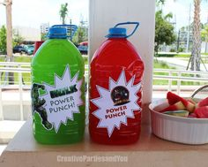 Avengers Birthday Party Ideas | Photo 8 of 37 | Catch My Party Hulk Birthday Parties, 5th Birthday Party Ideas, Superhero Birthday Party, Third Birthday, Boy Birthday, Ideas Party, Spider Man Party, Avenger Party, Hulk Party