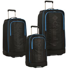Columbia Chill Out Three Piece Rolling Luggage Set (20'/24'/28') ** Check this awesome product by going to the link at the image. (This is an Amazon Affiliate link and I receive a commission for the sales)