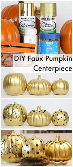 DIY Faux Pumpkin Centerpiece from MichaelsMakers Classy Clutter