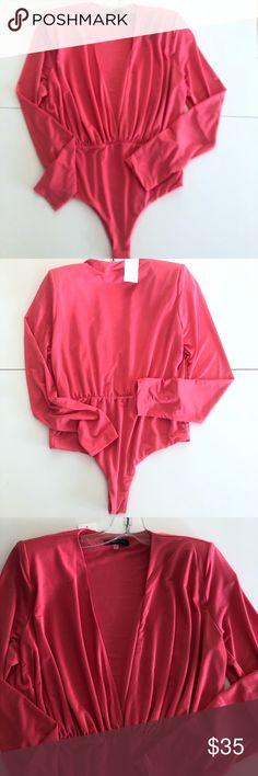 Ladies Floral Flower Print Wrap Front Plunge Neck Satin Bodysuit Shirt Top