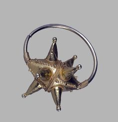 Star-Shaped Kolts, late 11th Century – early 13th Century A.D. Gold: molding, hammering, granulation, filigree. Kyivan Rus.The Museum of Russian Art, Minneapols