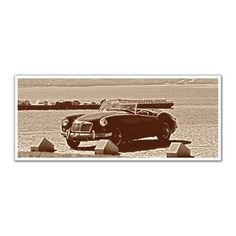 JP London PAN5111 uStrip Vintage Corvette by the Beach High Resolution Peel and Stick Removable Wall Mural