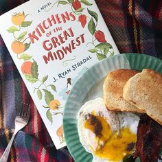 Sunday morning with my birthday book and homemade bread from my Mom...relaxing and delicious! #reading  #sunday #morning #timeout #breakfast #homemadebread #tartan #book #kitchensofthegreatmidwest #food #foodporn #foodgasm #foodstagram #foodpics #foodblog