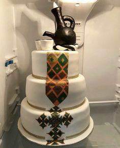 Traditional Wedding Decor, African Traditional Wedding, Traditional Cakes, Pretty Wedding Cakes, Elegant Wedding Cakes, Africa Cake, Ethiopian Coffee Ceremony, African Wedding Cakes, Ethiopian Wedding Dress