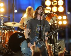 The Foo Fighters perform at the 2012 Grammy Awards