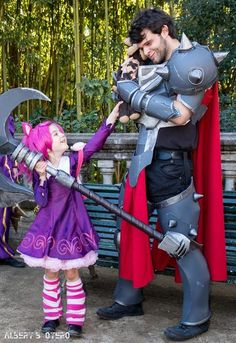Annie vs Darius cosplay League of Legends LOL