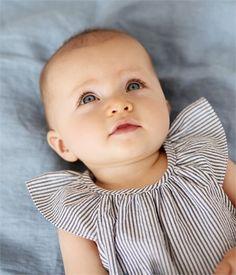 Combibloomer bébé fille en seersucker rayé