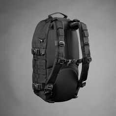 Suspension System with HDPE Framesheet Enables Pack to Ride Higher on Your Back. Shown in Black vinjabond fast pack!