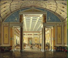 Hau Edward Petrovich - Interiors of the New Hermitage. The Room of Cameos