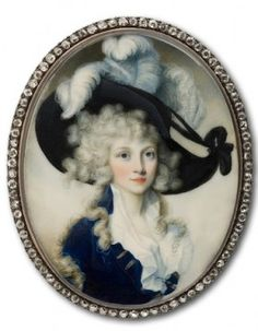 The Poor Beauty's Identity is Unknown as is the Artist, Though the Miniature Has Been Estimated In Age to Be Contemporary with Marie Antoinette and Louis, In Early 18th Century.