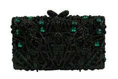 YILONGSHENG Clutch Bags With Crystal For Women EB0139 Green Clutch Bags, Evening Bags, Crystals, Rain Shower, Green, Stuff To Buy, Link, Ebay, Amazon