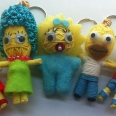 The Simpsons Family String Doll Set