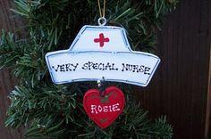 Nurse& cap nurse CNA RN personalized ornament by EvansCraftHut Christmas Holidays, Christmas Ideas, Christmas Crafts, Christmas Ornaments, Xmas Gifts, Craft Gifts, Nurse Decor, Nurse Appreciation Gifts, Nurse Hat
